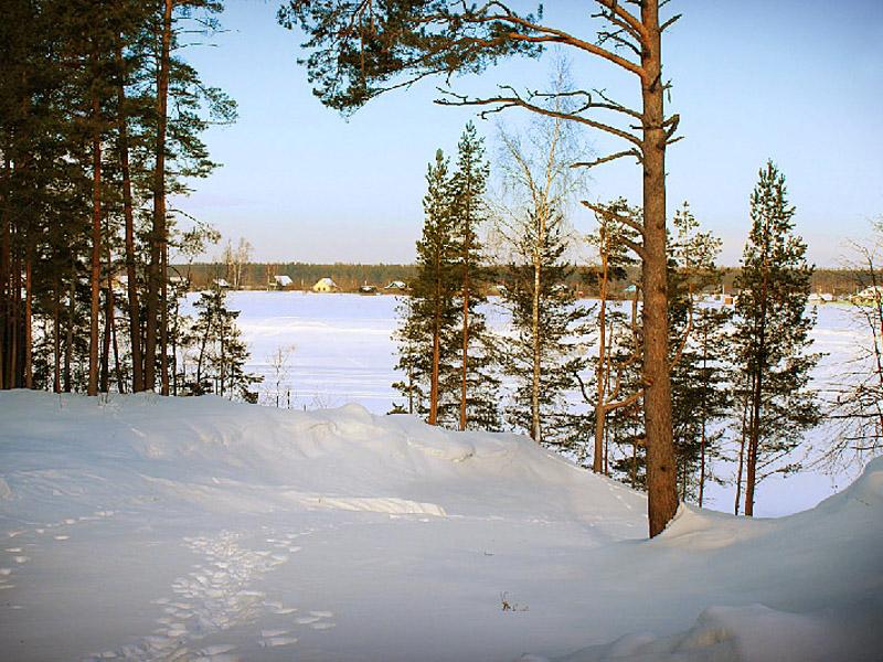 Зимний спуск к реке